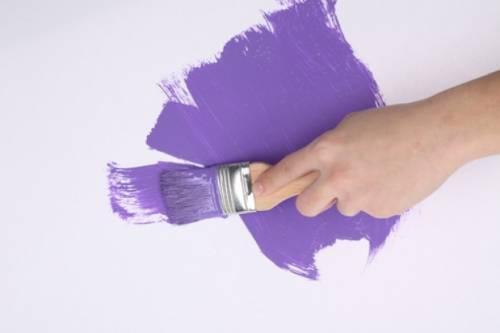 Как сделать краску фиолетовый